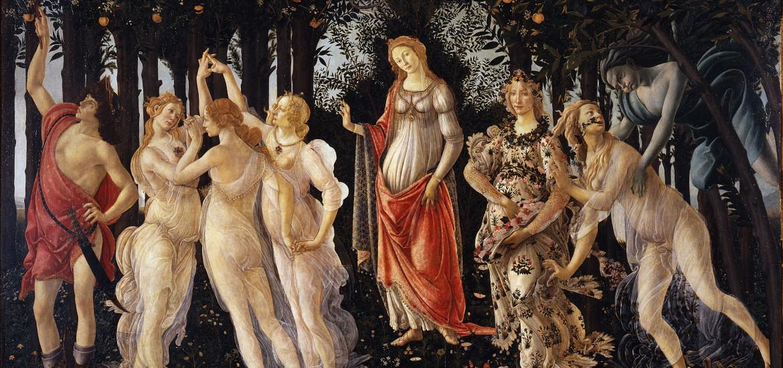 """Sandro Botticelli """"Primavera"""", 1482, Galleria Degli Uffizi, Firenze"""
