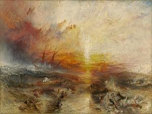 "William Turner, ""La nave negriera"", 1840, Museum of Fine Arts, Boston"