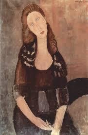 """Amedeo Modigliani, """"Ritratto di Jeanne Hébuterne"""",1918, collezione privata, Parigi."""