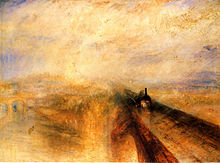 "William Turner, ""Pioggia, vapore e velocità"", 1844, National Gallery, Londra."