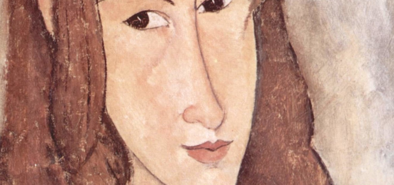 """Amedeo Modigliani, """"Ritratto di Jeanne Hébuterne di profilo"""", 1918, collezione privata, Parigi."""