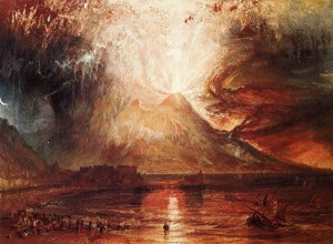 "William Turner, ""L'eruzione del Vesuvio"", 1817"