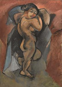 """Georges Braque, """"Gran Nu"""", 1908, Centre Pompidou, Paris"""