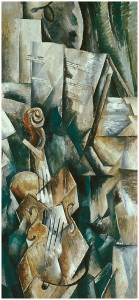 "Georges Braque, ""Violin and palette"", 1909, Guggenheim Museum, New York"
