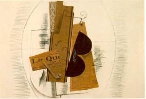 """Georges Braque, """"Violin and pipe"""",1913, Centre Pompidou, Paris"""