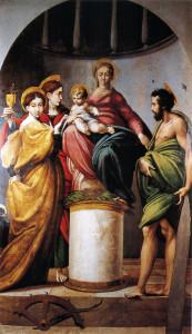 "Parmigianino, ""Pala Bardi"", 1521-22 ca. Bardi, chiesa arcipretale di Santa Maria Addolorata."