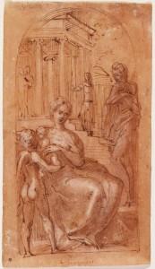 """Parmigianino, """"Studio per la Madonna dal collo lungo"""", 1534-39 ca. Ottawa, National Gallery of Canada."""